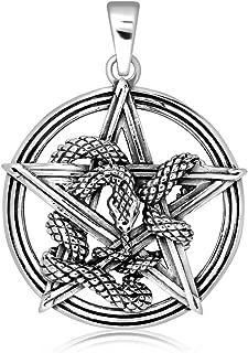 Sistakno Argent sterling 925/Croyance 3d Alien Cr/éature /à lext/érieur du monde Pendentif