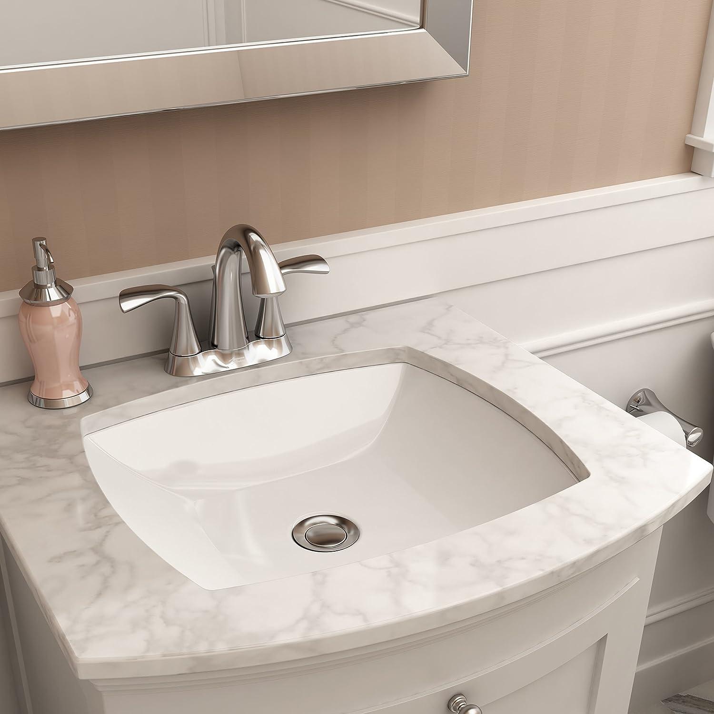 Buy American Standard 545000 020 Edgemere Ceramic Undermount Rectangular Bathroom Sink 18 5 Lx 16 12 W X 5 25 H White Online In Taiwan B0737ngwqp