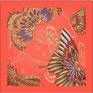 Fashion Ladies Twill Large Square Digital Bright Butterfly Print Scarves Scarf (Color : 04, Size : 100 * 100cm)