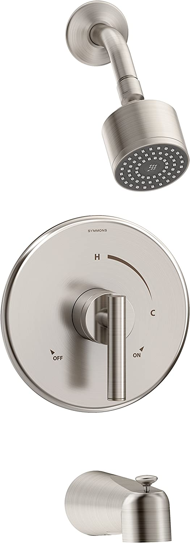 Symmons 3502-CYL-STN-1.5-TRM Dia Tub Shower Trim Satin Nickel