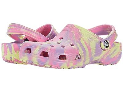 Crocs Kids Classic Marbled Tie-Dye Clog (Toddler/Little Kid/Big Kid) Kid