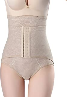 La Vogue Women High Waist Embroidery Tummy Control Body Shaper Panty