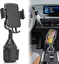 Cup Phone Holder for car Universal Adjustable Gooseneck Portable Cup Holder Car Mount for iPhone X/XS/XR/ 8/8+ / 7/7 Plus / 6/6+, Samsung (Universal)