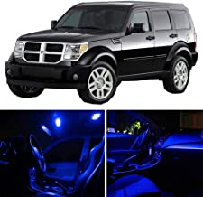 SCITOO 15Pcs Blue Package Kit Accessories Replacement Fits for Dodge Nitro 2007-2011 LED Bulb LED Interior Lights