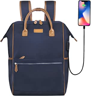 Knapsack for Women 15.6 Laptop Backpack Desanissy Backpack Thick Pad Straps Waterproof Nylon/Microfiber Casual