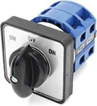 Baomain 660V 25A 2-Pole 3-Position Momentary 8 Terminals Changeover Control Rotary Cam Switch