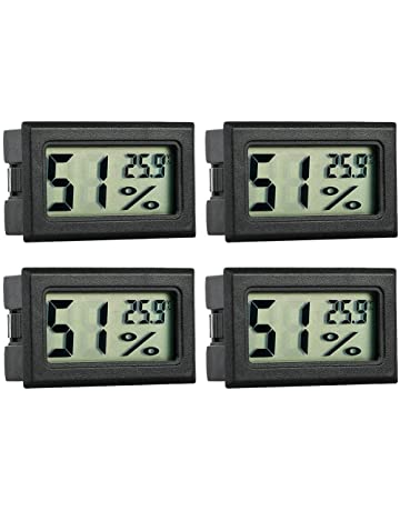 Nannday Rettile Termometro per Animali Domestici Termometro Digitale LCD di umidit/à Termometro igrometro per Animali Domestici Rettile