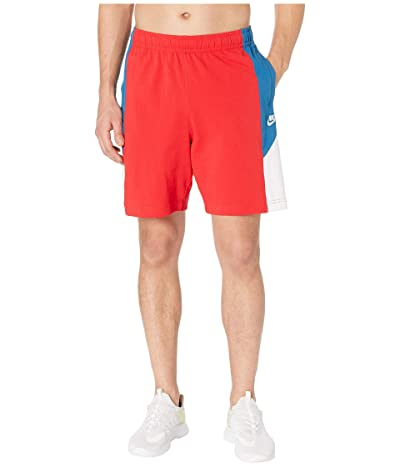 Nike NSW Shorts Jersey Color Block (University Red/Industrial Blue/White) Men