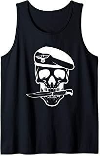 Army Soldier Skull Knife Tattoo Veteran Tank Top