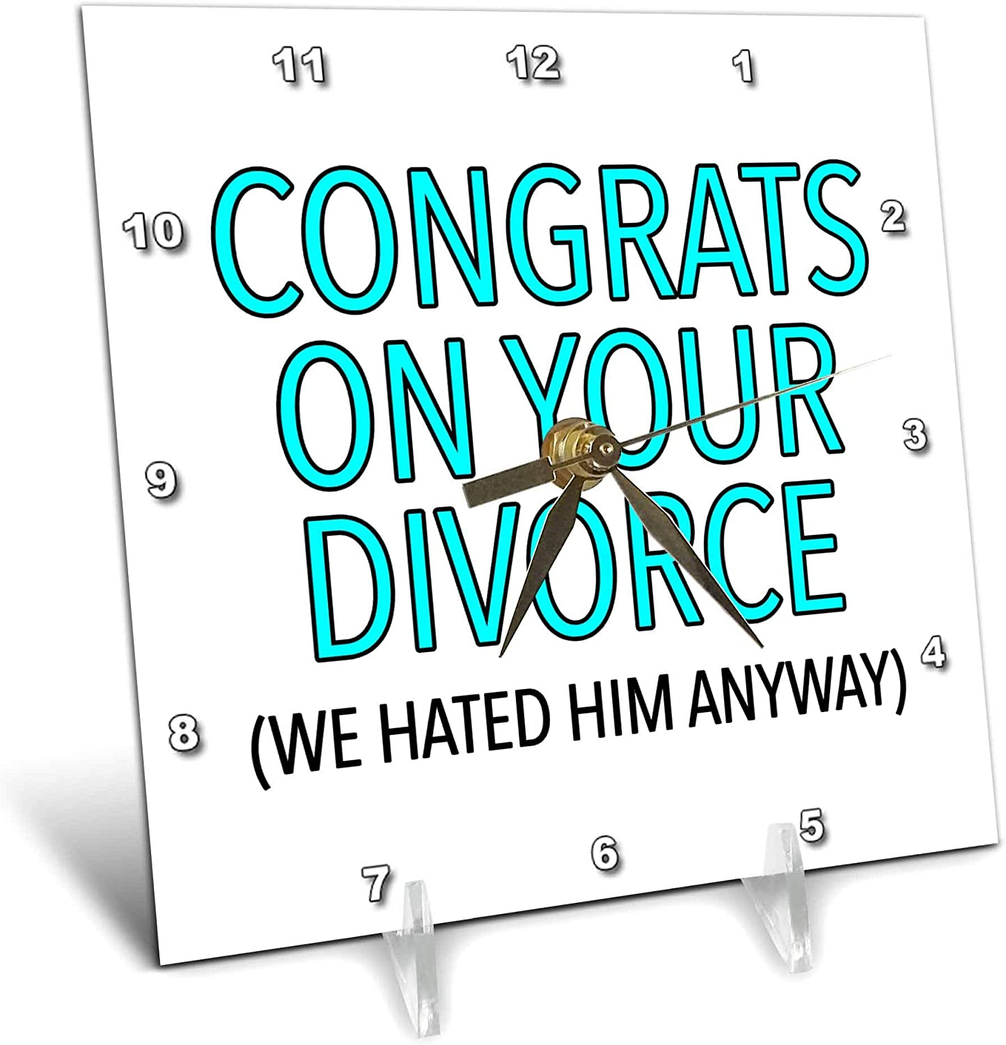 3dRose Popular brand in the world EvaDane Max 53% OFF - Funny Sayings Congrats On Aqua Your Divorce