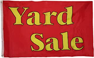 ALBATROS 3 ft x 5 ft Advertising Yard Sale Red Yellow Flag Grommets for Home and Parades, Official Party, All Weather Indoors Outdoors