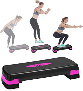 Aerobic Stepper With Risers