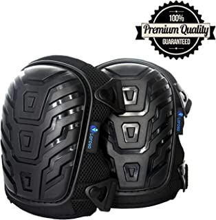 KORIER Knee Pads - Knee Protector for Gardening, Cleaning, Flooring, Working Construction - Comfortable, Heavy Duty Foam Cushion Knee Pads for Work with Strong and Adjustable Straps