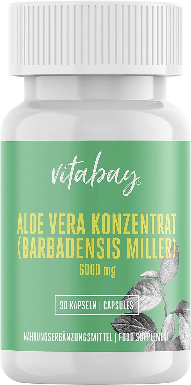 108 opinioni per Concentrato di aloe vera 6000 mg- 90 capsule di verdura