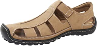 Athlego Men's Leather Outdoor Sandals