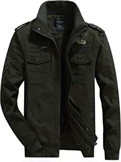 H.T.Niao & L'monte Imported Jacket for Men Winter Camouflage Military Design Army Style Cotton Casual Slim Fit Stand Colla...