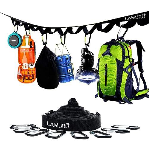 f907c3af3997 LAMURO Campsite or Garden Supplies Storage Strap with 8 Hooks