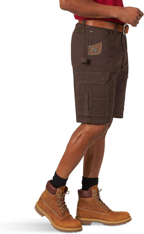 Wrangler RIGGS Workwear Short de sport pour homme Marron Foncé