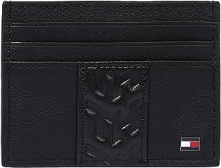 Tommy Hilfiger Leather Card Case Holder, Black, AM0AM05991