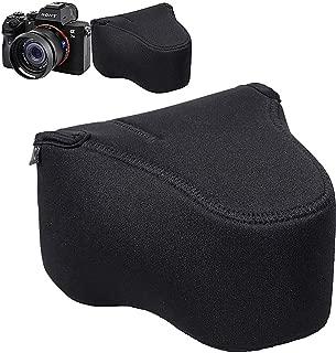 JJC カメラケースポーチ Sony A7III A7RIII A7II A7SII A7RII A7 A7R A7S + FE 28-70mm f3.5-5.6/24-70mm f4 / 16-35mm f4 / 50mm f2.8 / 55mm f1.8 / 85mm f1.8 レンズ & RX10 II III IV -5.6x3.9インチx6.0インチ-ブラック