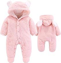 Best VNVNE Newborn Baby Cartoon Bear Snowsuit Warm Fleece Hooded Romper Jumpsuit Review