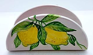 Portatovaglioli Linea Limoni Pezzo Unico Handmade Le Ceramiche del Castello Made in Italy