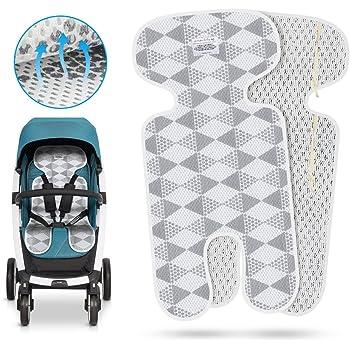 Kindersitz und Babyschale Atmungsaktive Sommer Sitzeinlage Sitzauflage f/ür Kinderwagen K/ühlt und sch/ützt den Sitzbezug vor Flecken Buggy Gr/ün