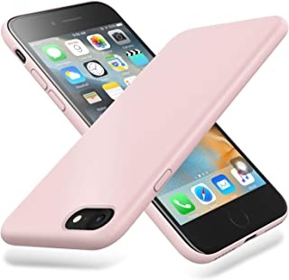 Winzizo iPhone 8 Case & iPhone 7 Case Liquid Silicone Gel Rubber Slim Protective Phone Cover Soft Cases Compatible with iPhone 8 & iPhone 7 (Pink Sand)