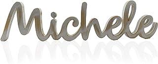 Nome Lettere Scritta in legno di pioppo spessore 20mm altezza 25cm larghezza 55cm finitura grezza o shabby RAGALO GADGET C...