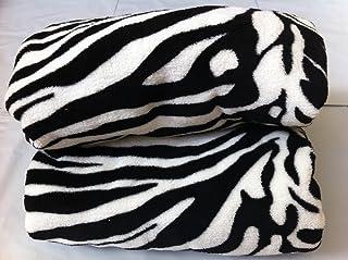Twin Safari Zebra Black/white Coral Fleece Mega Throw