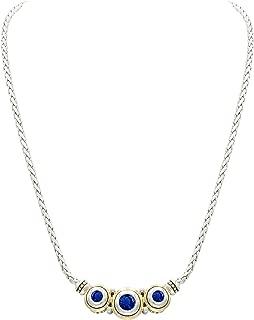 John Medeiros Gorgeous Beijos Three Stone Cubic-Zirconia Adjustable Necklace 16