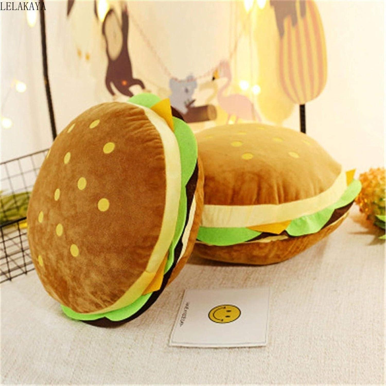 VINVITO Soft Toys Creative Stuffed Animal P Lowest price challenge Large discharge sale Food Shape Hamburger