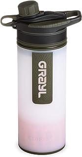 GRAYL GeoPress Botella purificador de agua de 24 onzas – Filtro para senderismo, camping, supervivencia y viajes (blanco a...