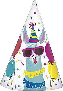 Llama Birthday Party Hats, 8 Ct.