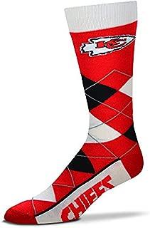 Fore Bare Feet Kansas City Chiefs Argyle Lineup Socks