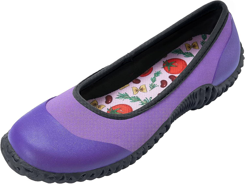 HISEA Flat Rain Shoes 世界の人気ブランド for 中古 Garden Muck Women Waterproof Mud