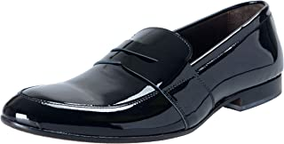 A. Testoni Men's Patent Leather Black Slip On Loafers Shoes US 9 IT 42