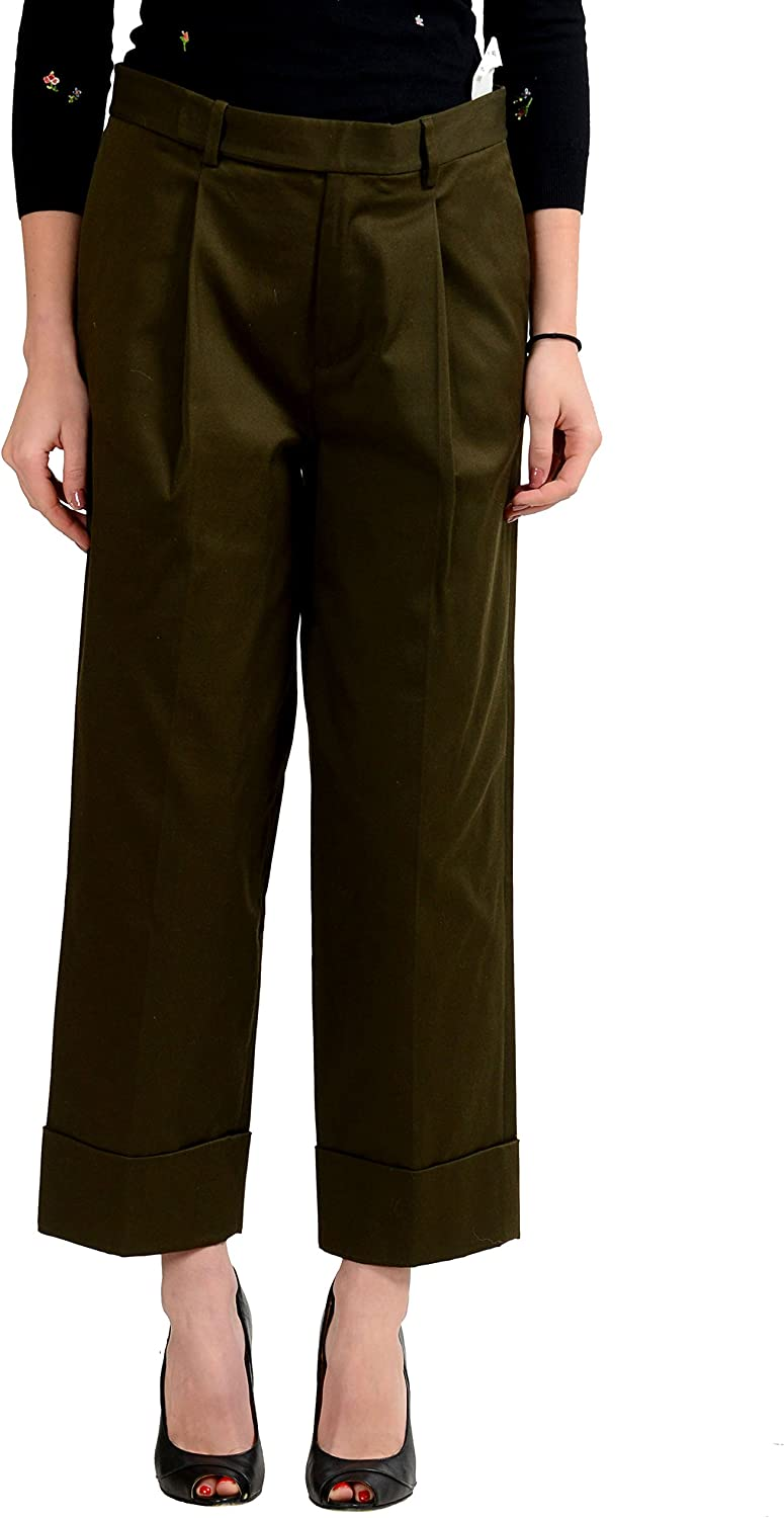 DSQUARED2 Khaki Green Cropped Women's Casual Pants US S IT 40