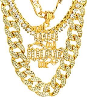 Jewel Town Hip Hop Only God Can Judge Me Cz Pendant Simulated Diamond 14k Gold Pendant Necklace with 24