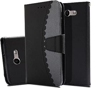 Samsung Galaxy J7 V Case/Galaxy J7 Perx Case/Galaxy J7 Sky Pro/J7 Prime/Galaxy Halo/J7 2017 Case, UZER Premium PU Leather Folio Wallet Case with Kickstand Card Holder ID Slot and Hand Strap