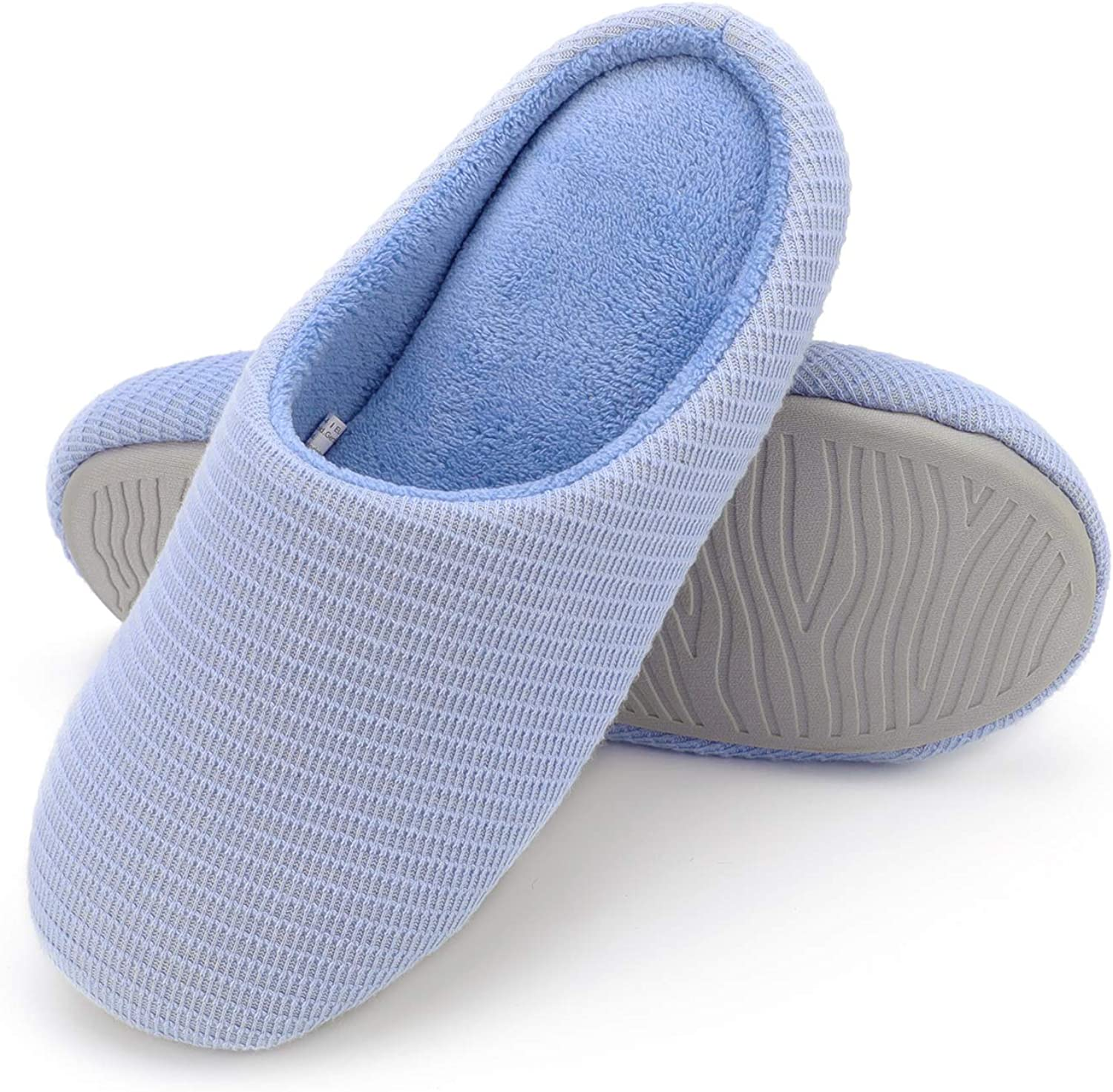 Wishcotton Women's Memory Foam Slippers Washable House shoes with Non-Slip Sole