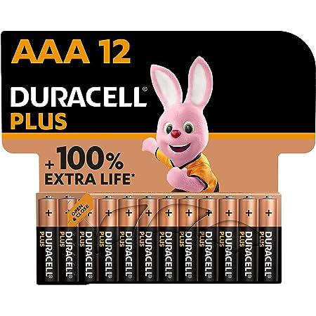 Duracell - NOUVEAU Piles alcalines AAA Plus, 1.5 V LR03 MN2400, paquet de 12