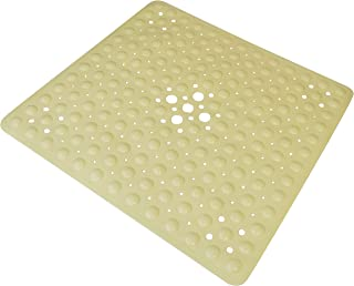 Essential Medical Supply 20 inch x 20 inch Shower Mat with Drain Holes, Cream