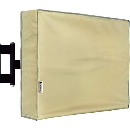 55 Model for 53-57 Flat Screens Slim Fit Outdoor TV Cover Weatherproof Weather Dust Resistant Television Protector Tan