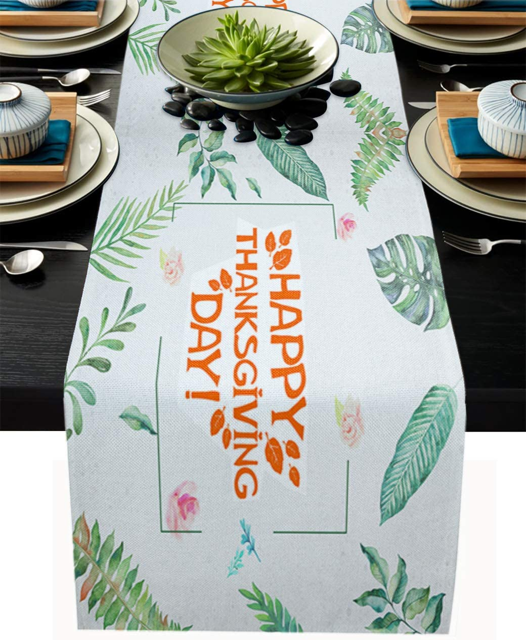 Thanksgiving Table Runners 13x120 Inches Holida Long Genuine supreme Heat-Proof
