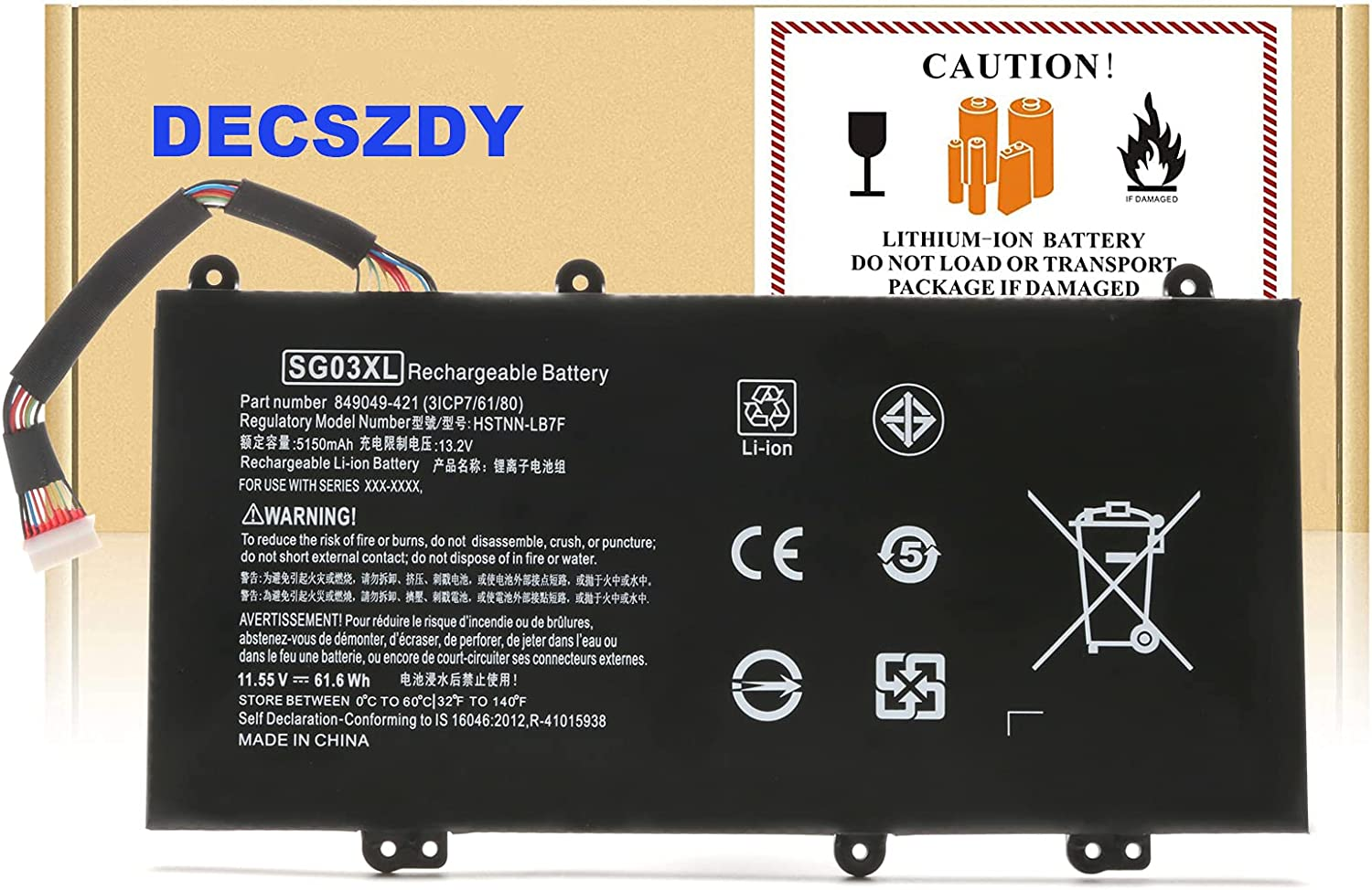 Type SG03XL 849048-421 Laptop Battery Popular overseas for New mail order Series 17 Envy N HP