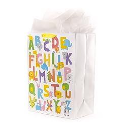 Hallmark 5WDB1104 Mega Tissue Paper (Animal Alphabet) Gift Bag, XL