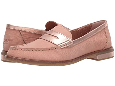 Sperry Seaport PlushWave Woven Penny Loafer (Blush) Women