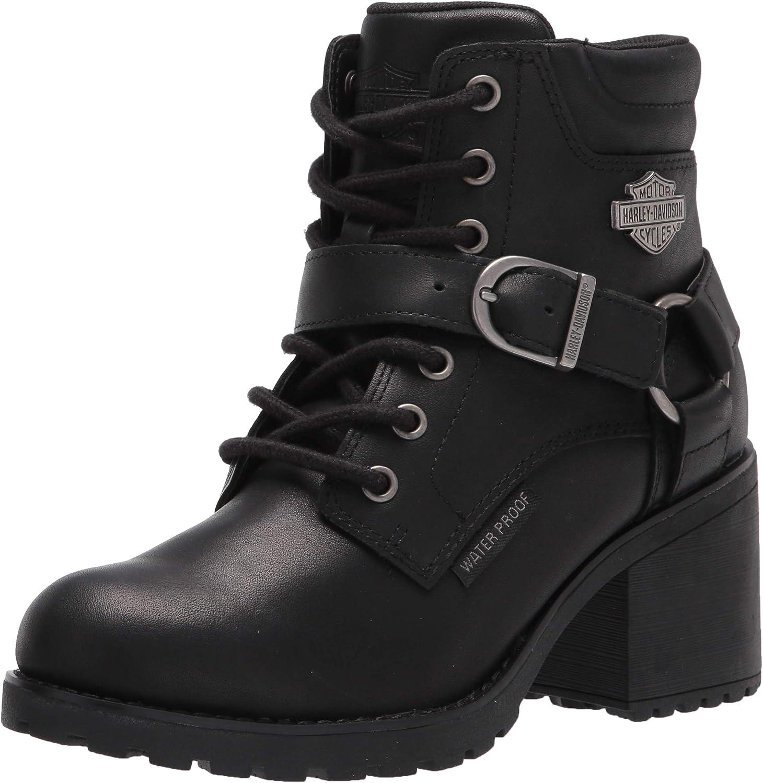 Harley-Davidson Women's Howell 5-Inch Waterproof Black Motorcycle Boots, D84664