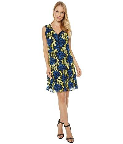 Sam Edelman Embroidered Mesh A-Line (Yellow/Blue) Women
